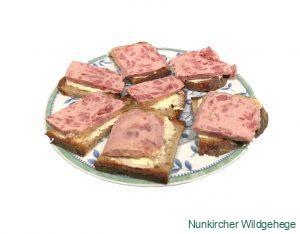 Jagdwurst auf Brot
