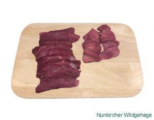 Unterschale als Steak geschnitten
